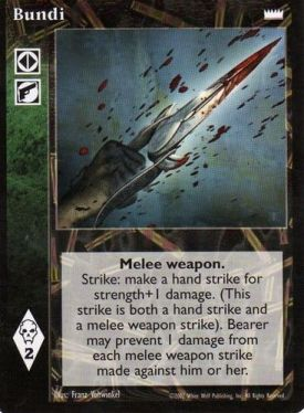 Would this card have been too good if it prevented 1 damage from hand strikes instead of weapons?